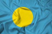 Развевающийся флаг Палау — Стоковое фото