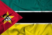Waving Mozambique Flag — Stock Photo