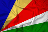 Waving Seychelles Flag — Stock Photo