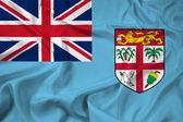 Drapeau ondulant de Fidji — Photo