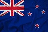 Waving New Zealand Flag — Stock Photo