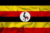 Waving Uganda Flag — Stock Photo