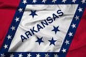 Waving Arkansas State Flag — Stock Photo