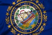 Waving New Hampshire State Flag — Stockfoto