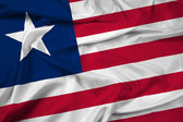 Waving Liberia Flag — Stock Photo