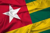 Waving Togo Flag — Stock Photo