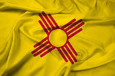 Waving New Mexico State Flag — Stock Photo