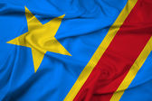 Waving Democratic Republic of the Congo Flag — Stock Photo