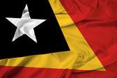 Waving East Timor Flag — Stock Photo