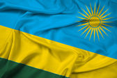Waving Rwanda Flag — Stock Photo