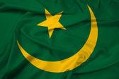 Waving flag in mauretanien — Stockfoto