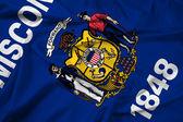 ウィスコンシン州の旗を振ってください。 — ストック写真