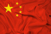 Waving China Flag — Stock Photo