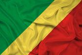 Waving Congo Republic Flag — Stock Photo