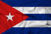 Waving Cuba Flag — Stock Photo