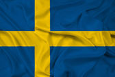 Waving Sweden Flag — Stock Photo
