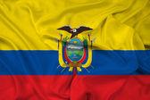 Waving Ecuador Flag — Stock Photo