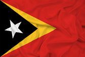 Waving East Timor Flag — Stock Photo