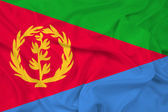Waving Eritrea Flag — Stock Photo