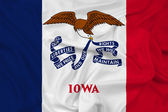 Waving Iowa State Flag — Stock Photo