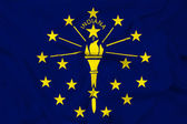 Waving Indiana State Flag — Stock Photo