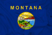 Waving Montana State Flag — Stock Photo