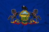 Waving Pennsylvania State Flag — Stock Photo