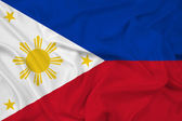 Waving Philippines Flag — Stock Photo