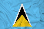 Waving Saint Lucia Flag — Stock Photo
