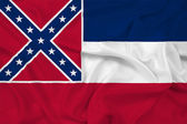 Waving Mississippi State Flag — Stock Photo