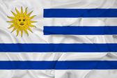 Waving Uruguay Flag — Stock Photo