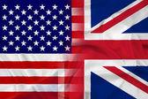 美国和英国旗帜 — 图库照片