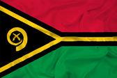 Waving Vanuatu Flag — Stock Photo
