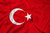 Waving Turkey Flag — Stock Photo