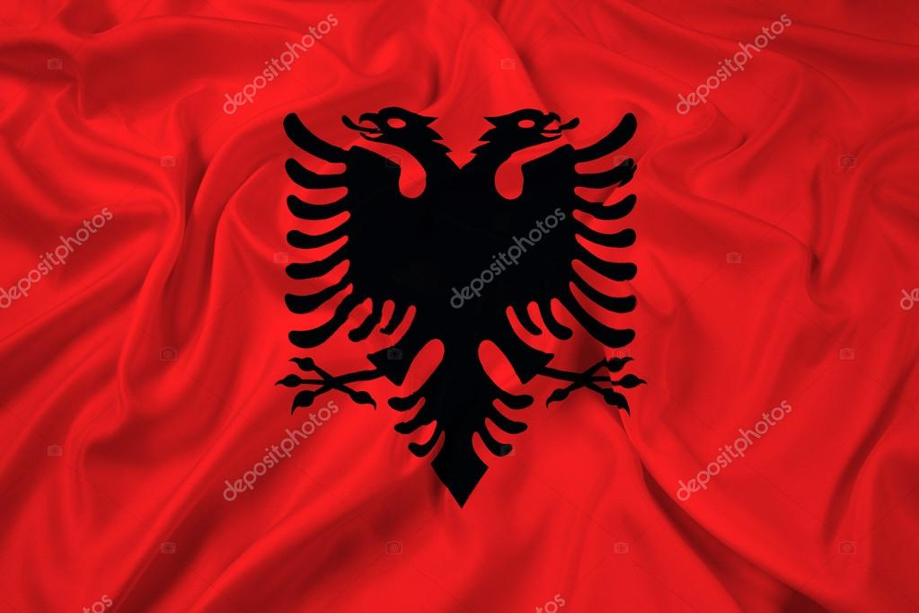 Albanian Flag Waving Waving Albania Flag Photo by
