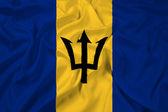 Mávání vlajkou barbadosu — Stock fotografie