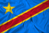 Waving Democratic Republic of the Congo Flag — 图库照片