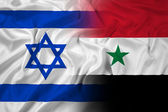 Waving Israel and Syria Flag — Stock Photo