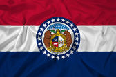 Waving Missouri State Flag — ストック写真