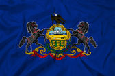 Waving Pennsylvania State Flag — Stock Photo