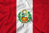Bandeira do peru — Fotografia Stock