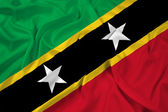 Waving Saint Kitts and Nevis Flag — Stock Photo
