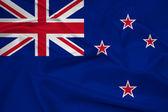 Waving New Zealand Flag — Stock Photo