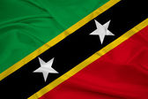 Waving Saint Kitts and Nevis Flag — Foto de Stock