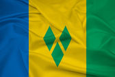Waving Saint Vincent and The Grenadines Flag — Foto de Stock