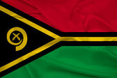 Waving Vanuatu Flag — Stock Photo