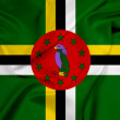 Постер, плакат: Waving Dominica Flag