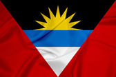 Waving Antigua and Barbuda Flag — Stock Photo