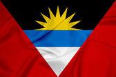 Waving Antigua and Barbuda Flag — Stock Photo
