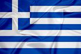 Waving Greece Flag — Stock Photo